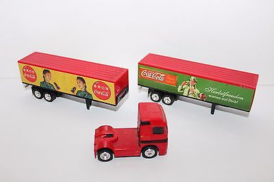 Coca Cola Collectible Matchbox Delivery Truck with China and German Trailers