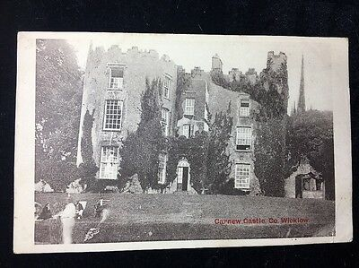 Carnew Castle Co Wicklow Antique Postcard 1910 Posted Valentine