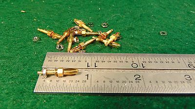 (10) Miniature Banana Plugs Gold Plated ARC-5 SCR-274N UNUSED
