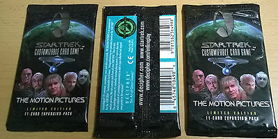 Star Trek CCG The Motion Pictures Limited Lot of 3x Booster Packs (Mint, Sealed)