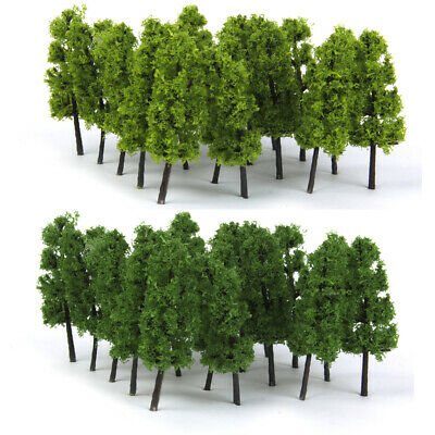 Lot 20pcs Model Pagoda Trees Train Railway Park Street Scenery Z Scale 1:200