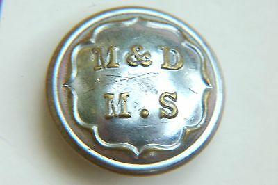 "Maidstone & District Motor Services Uniform Button "" M. & D. M. S."""