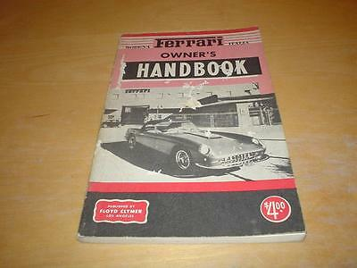CLYMER FERRARI TYPE 118 312 625 LE MANS 206 296 DINO Owners Handbook Manual Book