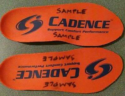 Cadence Insoles Orthotic Shoe Insoles Men's 5, Women's 6