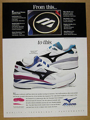 1993 Mizuno Mondo Club & Elite Running Shoes photo vintage print Ad