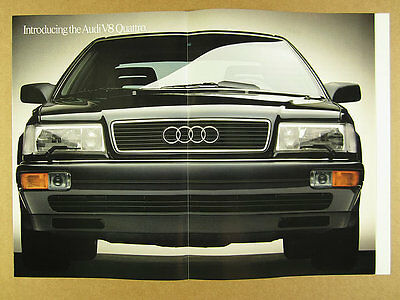 1989 Audi V8 Quattro 'Introducing' sedan car photos 8 page vintage print Ad