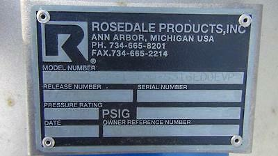 Rosedale Products Model 245250-6F-1 Filter - Stainless Steel - Complete - XLNT