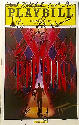 Pippin 2013 Broadway Revival Cast Signed Playbill