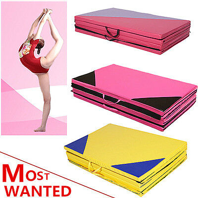 """2"""" Thick Soft Play Folding Panel Gymnastics Mat Pattern Gym Fitness Exercise BDM"""