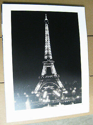 FRANCE PARIS BY NIGHT EIFFEL TOWER Photo Poster Lot of 12 Vintage Art Print 2000