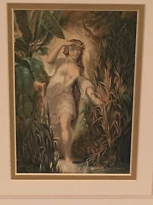 Circassian Lady at the Bath – Baxter Print Framed and Mounted