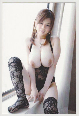 Postcard Nude Sexy Asian Girl Topless Breast Awesome Risque Photo Post Card 7124