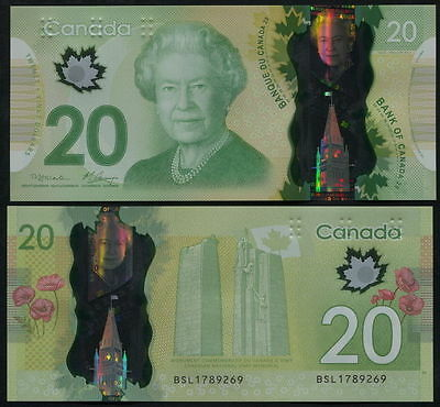 Canada. 20 dollars (Unc. Polymer) 2012. Banknote Cat# P.108a