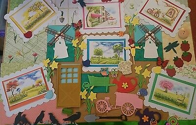 Countryside  themed card  making kit. craft room clearout,