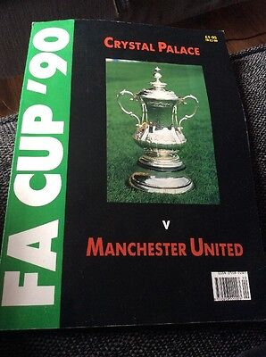 Crystal Palace v Manchester United 1990 FA Cup Final Preview Magazine