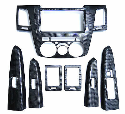 Carbon grain dash Kit For Toyota Hilux 05-11 interior trim mk6 vigo sr5 06 07 08