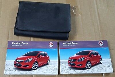 Vauxhall Corsa Owners Pack Manual Handbook Wallet Infotainment Audio 2006-2010