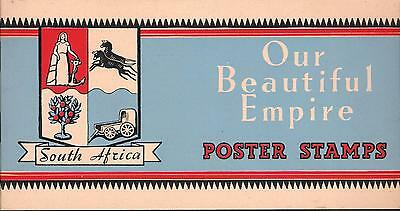 South Africa---Our Beautiful Empire Poster Stamps---Complete Album 24 Stamps