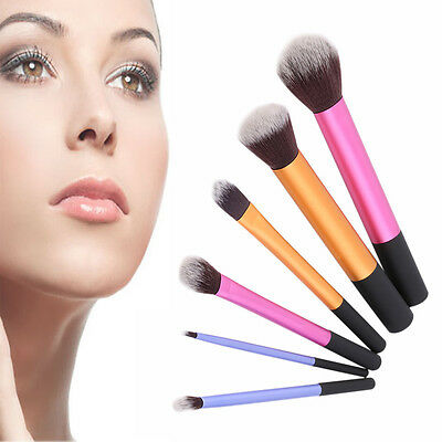 New 6pcs Powder Cosmetic Makeup Brush Set Blush Brushes Foundation Tool SW