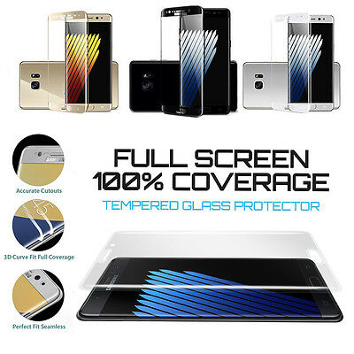 Full Cover 3D Tempered Glass Screen Protector Guard for Samsung Galaxy Series TK