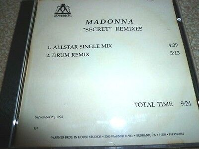 MADONNA Secret (REMIXES) : US 2-track promo-only CD: Test/Acetate/in-house CD