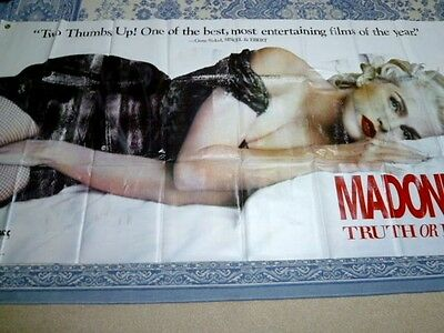 TRUTH OR DARE (In Bed With MADONNA) very rare promo-only VINYL BANNER POSTER