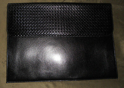 Black RAIKA LEATHER PORTFOLIO DOCUMENT CASE BAG  MADE IN U.S.A. NIB