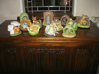 Franklin Mint Complete Collection Of Woodland Animals With Certificates