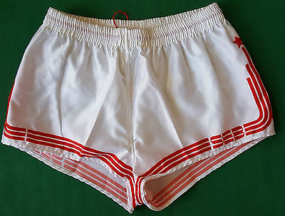 vintage shiny shorts SEB SPORT glanz gay sprinter run adidas trifoil 80 90 sz6