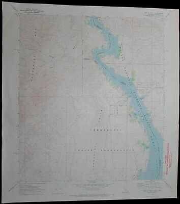 Castle Rock California Arizona Lake Havasu vintage 1973 old USGS Topo chart