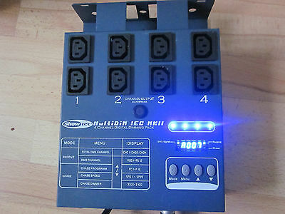 Showtec Multi Dim 4 IEC UK stock DMX dimmer pack