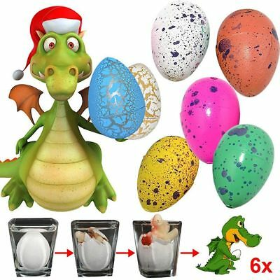 6X Dino Ei Kinder Educational Dinosaurier Growing Magie Water Eggs Magisch Toys