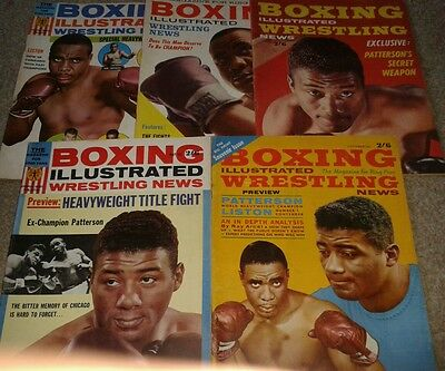 Boxing Illustrated  X 5 Issues 1962-62 Floyd Patterson+Sonny Liston
