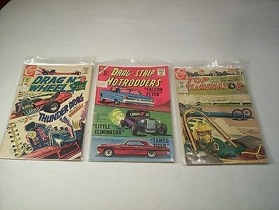 Vintage Drag N' Wheels Drag-Strip Hotrodders Top Eliminator Comic FVF GVG Lot