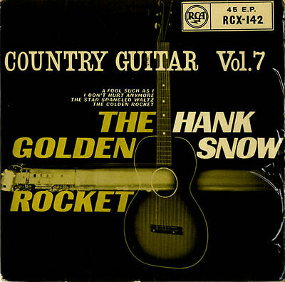 """HANK SNOW Country Guitar Vol.7  1962 UK issue of the 1959 4-track 7"""" vinyl EP"""