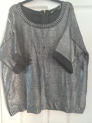 New Look Maternity Metalic Silver Jumper ,Size 16
