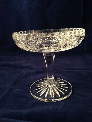 """Vintage 6"""" Crystal Compote/ Candy Dish"""