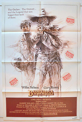 BARBAROSA (1983) Original One Sheet Film Poster - Willie Nelson, Gary Busey