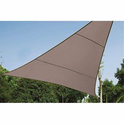 Voile Solaire - Triangle - 3.6 X 3.6 X 3.6 M - Couleur: Gris Taupe