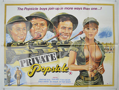 PRIVATE POPSICLE (1982) Original Cinema Quad Movie Poster - Yiftach Katzur
