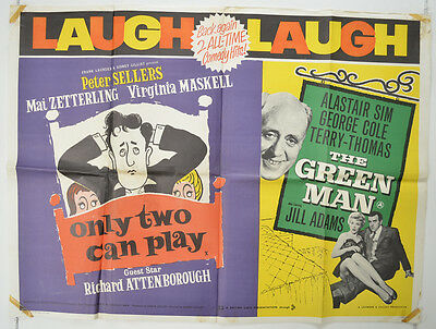 ONLY TWO CAN PLAY / THE GREEN MAN (1961) Cinema Quad Film Poster - Peter Sellers