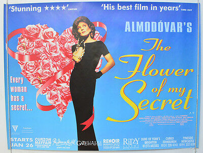 THE FLOWER OF MY SECRET (1995) Original Quad Movie Poster - Pedro Almodóvar
