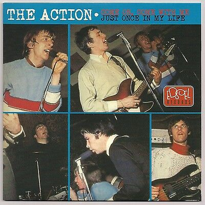 """60's MOD 7"""" 45 THE ACTION COME ON, COME WITH ME / JUST ONCE IN MY LIFE REISSUE"""