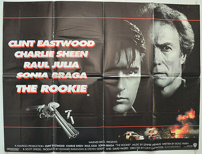THE ROOKIE (1990) Original Quad Movie Poster - Clint Eastwood, Charlie Sheen