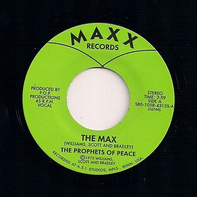 """Funk Soul 7"""" 45 The Prophets Of Peace The Max You Can Be Maxx Records  Reissue"""