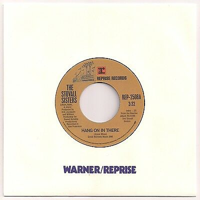 """Funk 7"""" 45 Stovall Sisters - Hang On In There / Cold Blood - No Way Home Reprise"""