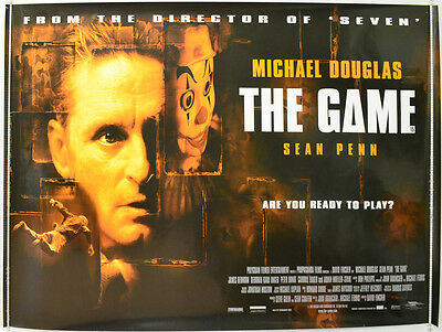 THE GAME (1997) Quad Movie Poster - Michael Douglas,  Sean Penn, David Fincher