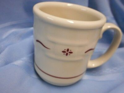 New Unused Longaberger Pottery Usa Coffee Cup Mug Woven Traditions Red