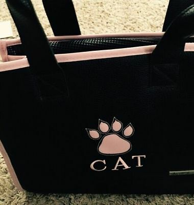 Cat Carrier, Portable, Small Treasure, Travel Chic Purse ,,PINK & BROWN, LN