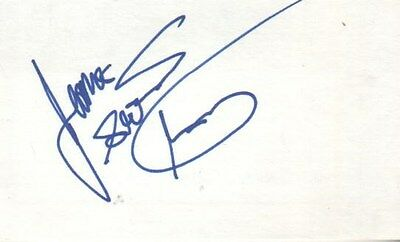 James Toney Autographed Index Card Three-Weight Boxing Champion